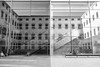 CCCB (Alexander.Hüls) Tags: barcelona cccb city reflections mirror architecture bw blackandwhite