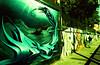Sailing (Georgie_grrl) Tags: graffiti streetart creative colourful expression toronto ontario pentaxk1000 rikenon12828mm crossprocessedfilm velviaasa50