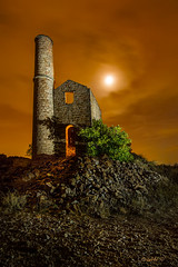 Memories of a glorious past... (darklogan1) Tags: lightpainting night clouds orange mining abandoned jaen linares andalusia andalucia spain canon 5d 1635 f4 logan darklogan1 nightphotography longexposure canon5dmarkiii canon1635f4