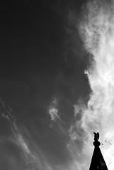 Sentinel (Anselmo Portes) Tags: argentina buenosaires cementeriorecoleta cemetery cementerio cemitério recoleta pb bw silhouette silhueta sky clouds minimal minimalism minimalista minimalismo minimalist