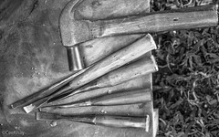 woodcarving tools b/w (Never.Stop.Searching.) Tags: artsandcrafts chiangmai thailand tools crafts hammer woodcarving