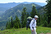 Dad Contemplates His Younger Days (Sotosoroto) Tags: dayhike hiking mountains cascades washington lakelillian rampartridge