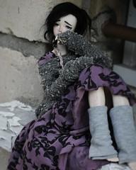 Dollcember Day12 ~ Melancholia (PeachyStraw) Tags: doll poupée dollcember anime alpaga alpaca angelphilia arcadia yamato quarantotto realartproject rap pinkdrops pinkdropsn°28 yuuna vmf50 obitsu