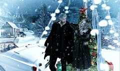 Dreaming of a white christmas (Luca Arturo Ferrarin) Tags: secondlife couple christmas snow beautiful love eve winter mill dream drive car