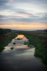 Barycz river in the light of the setting sun (pszcz9) Tags: polska poland przyroda nature natura pejzaż landscape beautifulearth sony a77 rzeka river baryczvalley dolinabaryczy barycz zachódsłońca sunset sosna autumn