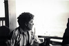 Reflection (phoca2004) Tags: 1980s blackandwhite connecticut film frank longislandsound madison minolta shoreline x700 monochrome unitedstates us scannedphoto portrait