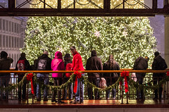 Looking back on Christmas (alohadave) Tags: autumn boston downtown effects fall faneuilhallmarketplace massachusetts night northamerica overcast pentaxk5 places season sky snowing suffolkcounty unitedstates smcpda60250mmf4edifsdm