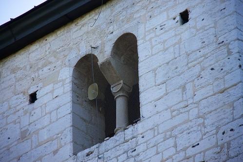 Biforium wschodnie wieży kościoła św. Mikołaja w Wysocicach