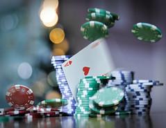 a stroke of luck (Uniquva) Tags: flickrfriday astrokeofluck aceofheart motion blur chips bokeh