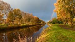 Ruiten-Aa-kanaal (Michiel Thomas) Tags: regenboog herbst herfst automne autumn provincie canal ruitenaakanaal kanal groningen province sellingen westerwolde rainbow