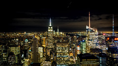 Top of the Rock (Ralph Cherubin) Tags: olympus ep5 panasonic 12mm32mm november 2017 newyorkcity ny skyline skyscrapers empirestatebuilding worldtradecenter night architecture topoftherock rockefeller center manhattan fav25