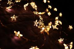 Golden Stars (Grimderp) Tags: light fairylight fairylights star stars gold golden led leds soft softlight goldenlight softfocus bokeh red orange yellow glow glowing