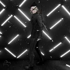 le bobo neon and suit (Beaulisious) Tags: second life suit meshmerized boy gabriel mandala real evil bamse secondlife