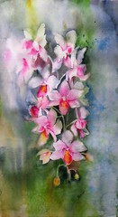 Orquidea (benilder) Tags: diadelaacuarela watercolorday orchidée lejourdelaquarelle feliz happyacuarela aquarellewatercolor watercolour flor orquidea orchid