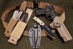 """Duty belt"" loadout V. 1.0 (Elbæk) Tags: colt walther umarex tasmaniantiger buck leatherman 1911 191122 22lr rimfire pistol asg mattwouldgo knife mut multitool tt dytybelt tactical hogue"
