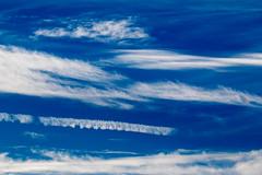 Blue Skies Smiling at Me (edmason88) Tags: blueskies clouds contrail jet tamron150600 edmonton alberta