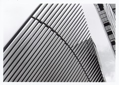 KodakTriX400Roll1-10 (George Karabinis) Tags: one world trade center oculus mall landmark 911 memorial wall street architecture nyc zenit kodak santiago calatrava manhattan zcg