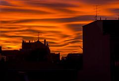 Fire on Milan (Fil.ippo) Tags: sunset milan milano tramonto fire orange arancione sky cloud cielo nuvole nuvolelenticolari lenticularclouds backlight filippobianchi filippo d610 nikon nature