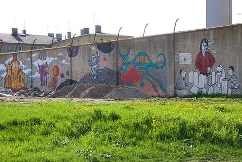 Twórczość na murach dawnego więzienia w Łęczycy