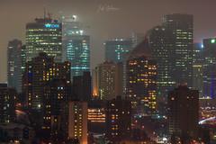 Atmosphere (WherezJeff) Tags: edmonton alberta canada fog night skycrapers cityscape mood density downtown illuminated