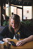 Lunch (Colin Robison) Tags: raleigh nc northcarolina north carolina food lifestyle nikon 35mm cuisine eater cureat parkside rdu parksiderestaurant restaurant foodie foods burger beer beers burgers color colors vsco model models beauty beautiful dof prime primes shallow glass person human south southern people portrait portraits lighting natural naturallighting window windows wood table tabletop craft craftbeer