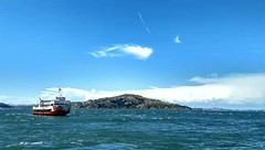 San Francisco Bay Off Angel Island - California, USA. (vishexplore) Tags: boat ferry angelisland alcatraz sanfrancisco sunnyday blueskies bluewater bliss travelphotography travel explore animation gif sanfran sf bayarea california californication cali calilife calilove usa island opensky wind pacificocean blue bluesky bluewaters sky openskies