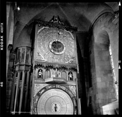 Time itself (cotnari73) Tags: horologiummirabile lund sweden cathedral lubitel trix400 d76 analogue lomo