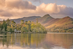 Light Fell Upon (Captain Nikon) Tags: catbells derwentwater keswick cumbria thelakedistrictnationalpark lakedistrict northwest reflections autumn autumnal island launch woods mountains fells england greatbritain landscapephotography landscapes