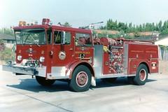 Santa Clara CA    Engine 7 (kyfireenginephoto) Tags: milpitas fire sunnyvale scfd lafrance engine sanjose alf california 1971 paloalto pioneer axe pumper ca truck