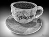4785 BW (James Korringa) Tags: cappuccino cup coffee beans bw black white iphone still life