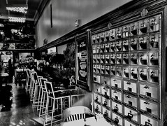 Repurposed post office... (Dennis Sparks) Tags: iphone postoffice westbornmarket plymouth michigan blackwhite