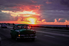60's Sunset (holycalamityscreaminsanity) Tags: cubanarchitecture art church portrait landscape cuban buildings sunset nature castillo water cuba