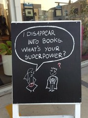 """""""I disappear into books ..."""" (Christchurch City Libraries) Tags: chalkboard quotes centrallibrarymanchester"""