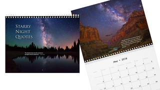 Starry Night Quotes calendar