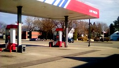 Gas pumps at Krist Oil Co station - 365/32