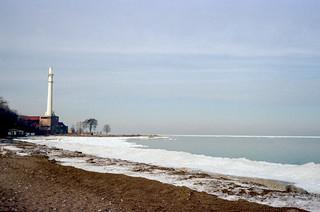 Maple St Beach in Winter