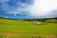 Beautiful scenery on Great Ocean Road (Masoodz) Tags: beautiful green greatoceanroad canon 650d efs1018mm dpp4 googlenik nik colorefexpro landscape sky clouds ground nature