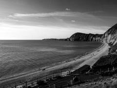 Sidmouth (ArthurFentaman) Tags: coast mono water horizon vacation sky wave line sea recreation trip wind way mile gear mast clear team romantic sailor two sunny landscape island couple ocean beach background blackandwhite uk seascape monochrome white coastal summer black england beautiful coastline outdoor scene light day dramatic unitedkingdom shingle tone south monochromecoastalimage sidmouth devon