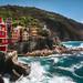 Riomaggiore (wiwenir) Tags: 2017 italien ligurien riomaggiore hafen sturm