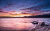 Purple sunset (Ignacio Ferre) Tags: madrid españa spain paisaje atardecer sunset agua water cielo sky nikon embalsedevalmayor embalse reservoir valmayorreservoir anochecer nube cloud landscape roca puestadesol composición compo composition dusk