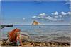 Panarea ... (miriam ulivi) Tags: miriamulivi nikond7200 italia sicilia sicily isoleeolie panarea mare sea barca boat cavi cables scoglio rock nuvole clouds molo pier sassi stones cielo sky