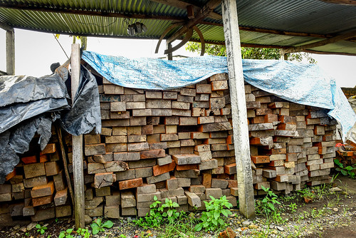 Timber from community forest user groups at the Trishakti Sawmill in Nawalparasi district, Nepal