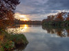 Autumn Sundown at Virginia Water-EB160401 (tony.rummery) Tags: autumn autumncolours em10 lake mft microfourthirds omd olympus reflections sunset surrey virginiawater englefieldgreen england unitedkingdom gb