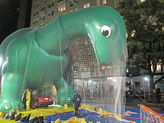 Pre - Parade Macys Balloon Blowout - Thanksgiving Eve 2017 NYC 3857 (Brechtbug) Tags: macys thanksgiving eve parade 2017 balloon blowup inflation joint nyc green sinclair oil dino brontosaurus mascot net near natural history museum central park west 11222017 balloons helium new character holiday york city christmas ornament blowing up inflating logo blowout blow out