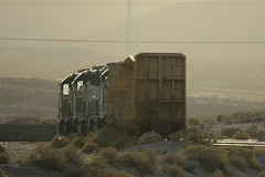 Into the Setting Sun (Arrowhead Fan) Tags: sdae pir pacific imperial railroad san diego eastern arizona baja california ca impossible idaho northern 4501 4500 4504 emd gp40 vandalism derilict