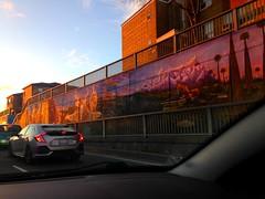 Driving along Lawrence St, Toronto (Trinimusic2008 - stay blessed) Tags: trinimusic2008 judymeikle urban november 2017 yesterday mural publicart streetart lawrencest toronto to ontario canada light