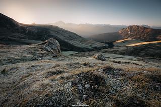 Morning in the Dolomites