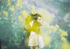 Spring breeze (eripope) Tags: beauty nikon tokyo multipleexposure girl women flower film