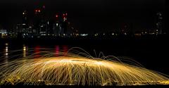 171202 3284 (steeljam) Tags: steeljam nikon d800 lightpainters wire woll spinning o2 isle dogs beach long exposure