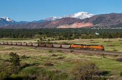 The USAFA/Ween Shot (Wheelnrail) Tags: bnsf burlington northern santa fe colorado joint line pikes peak subdivision usaf us air force academy rocky mountains front range ge locomotive coal train trains morning ween view west is best
